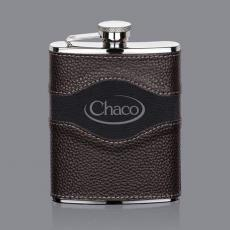Barware - Colchester Hip Flask -  Two-Tone Leather
