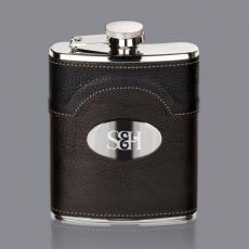 Flasks - Regent Hip Flask -  Stainless Plate