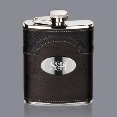 Regent Hip Flask -  Stainless Plate
