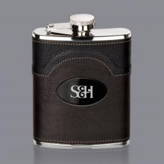 Flasks - Regent Hip Flask -  Black Nickel Plate