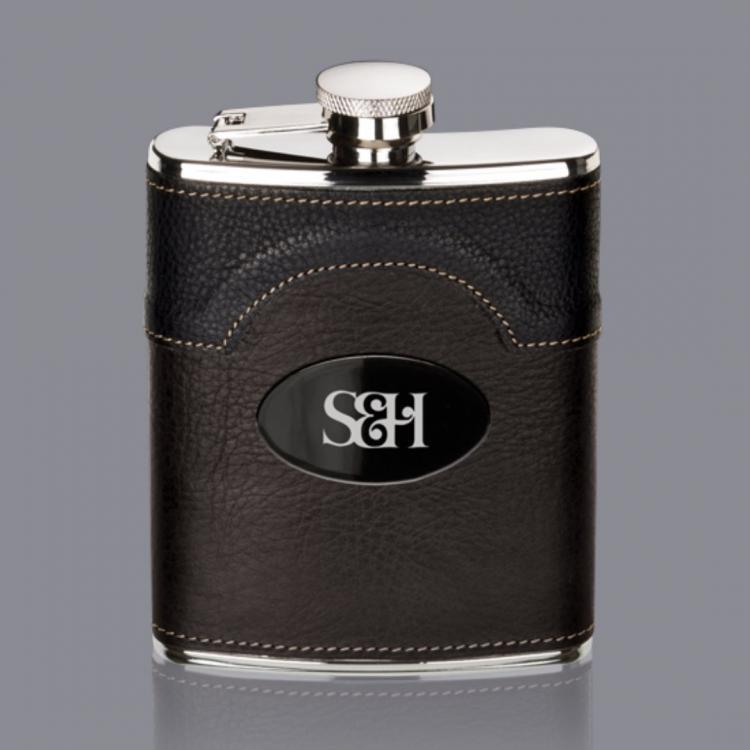 Regent Hip Flask -  Black Nickel Plate