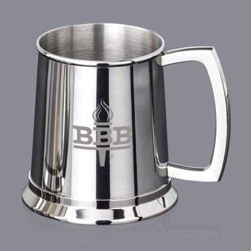 Bowen Beer Tankard - Polished - 20oz