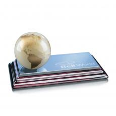 Crystal Paperweights - Globe on Sommerville - White