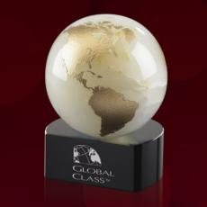 Desk Accessories - Globe on Crescent - White