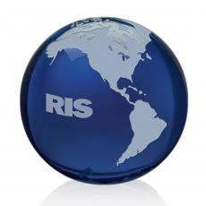 Desk Accessories - Blue Globe with Frosted Land