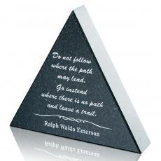 Desk Accessories - Granite Paperweight - Triangle