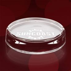 Personalized Corporate Gifts - Flat Round Paperweight