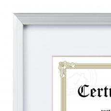Certificate Frames - Burnell - Silver