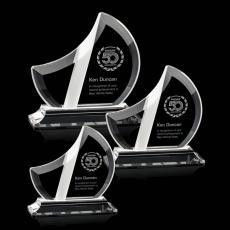 Custom-Engraved Crystal Awards - Gabriela Award