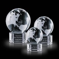 Desk Accessories - Globe on Paragon Clear