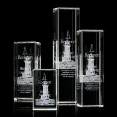3D Crystal Awards with Laser Etching - Robson 3D