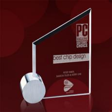 Metal & Glass Awards - Cooper Award - Jade/Chrome Circle