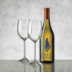 Barware - Chardonnay - Deep Etch & Woodbridge Wine Set