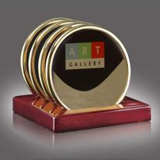 Coasters - ASTRO SUB -Oakridge (Set of 4) Gold