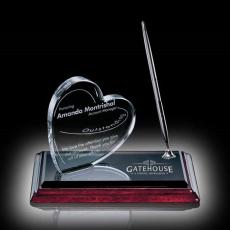 Personalized Corporate Gifts - Heart on Albion Pen Set Chrome