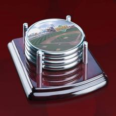 Coasters - Mayfair Coasters - Set of 4 - Chrome
