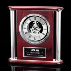 Personalized Corporate Gifts - Orwell Clock - Silver