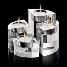 Candle Holders - Saks Candleholders - Optical Set of 4
