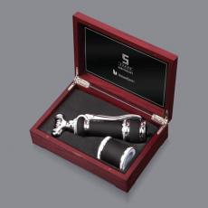 Gourmet Products - Parkwood Corkscrew/Bottle Stopper Set
