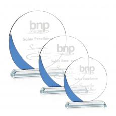 Clear Glass Awards - Gedding Award - Blue