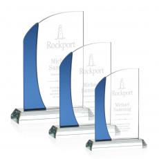 Clear Glass Awards - Jarvis Award - Blue
