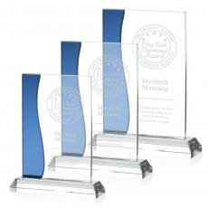 Clear Glass Awards - Landfield Award - Blue