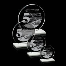 Custom-Engraved Crystal Awards - Victoria Award - White