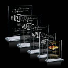 Clear Glass Awards - Emperor - Starfire (Vertical)