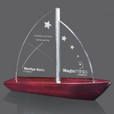 Metal Awards - Yarmouth Sailboat