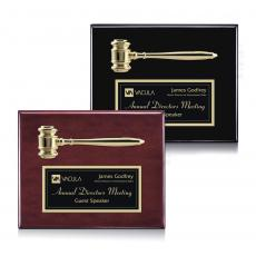 Customizable Plaque Awards - Gavel Plaque