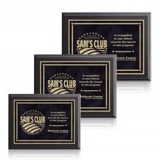 Customizable Plaque Awards - Farnsworth / Contempo -Black
