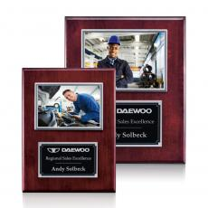 Photo Plaques - Metcalfe Plaque - Rosewood/Silver