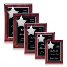 Customizable Plaque Awards - Hollister Plaque - Rosewood/Chrome