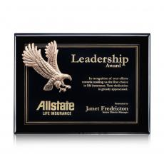 Customizable Plaque Awards - Flying Eagle - Black (S)