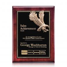 Customizable Plaque Awards - Flying Eagle - Rosewood (S)