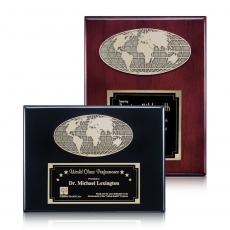 Customizable Plaque Awards - World Plaque