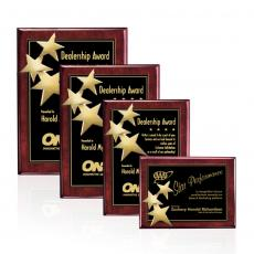 Customizable Plaque Awards - Constellation Plaque - Rosewood/Gold