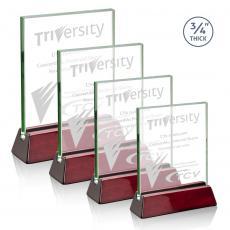 Rectangle Awards - Walkerton Award - Jade/Rosewood (Vertical)