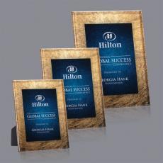 Custom Corporate Acrylic Awards - Hereford Award - Gold/Blue