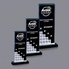 Custom Corporate Acrylic Awards - Lisbon Award - Silver