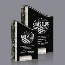 Custom Corporate Acrylic Awards - Ventura Award - Silver/Black