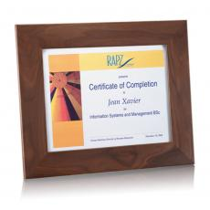 Certificate Frames - Brussels Certificate Holder - Walnut