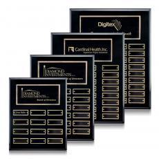 Customizable Plaque Awards - Oakleigh Vert Pert/Plaque - Black/Gold