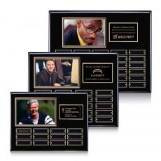Customizable Plaque Awards - Photo (Horiz) P/Plaque - Black/Gold