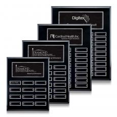 Perpetual Plaques - Oakleigh Vert Pert/Plaque - Black/Silver