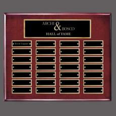 Perpetual Plaques - Oakleigh Horiz Pert/Plaque - Rosewood/Gold