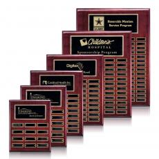 Perpetual Plaques - Oakleigh Vert Pert/Plaque - Rosewood/Gold