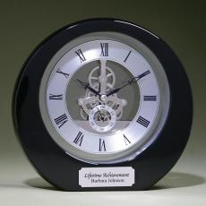 Made in USA - Silver Accent Clock