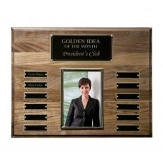 Photo Plaques - Walnut Perpetual Photo Plaque