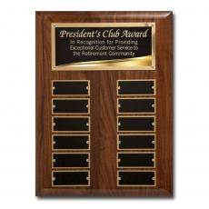 Awards & Recognition Ideas for Employees - Liquid Gold Perpetual Plaq